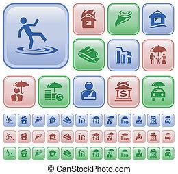 Insurance buttons - Insurance button set