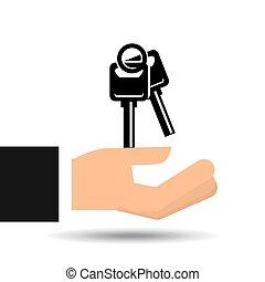 insurance car keys design icon