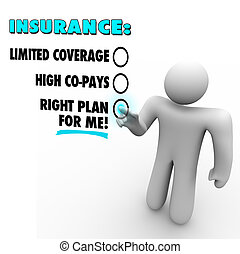 Insurance Choices Right Plan Vs Limited Coverage High Copay...