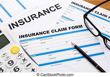 Insurance claim concept