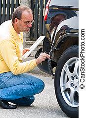 Insurance claim on the car. Car Insurance
