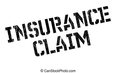Insurance Claim rubber stamp