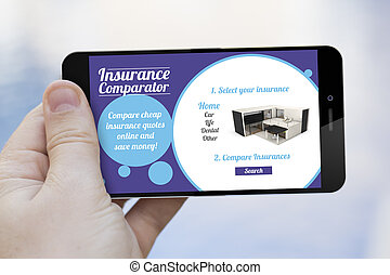 insurance comparator cell phone