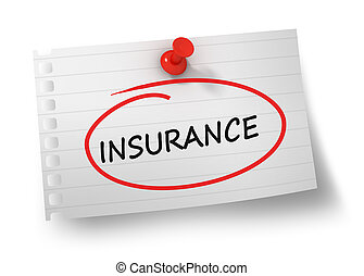 insurance concept 3d illustration isolated