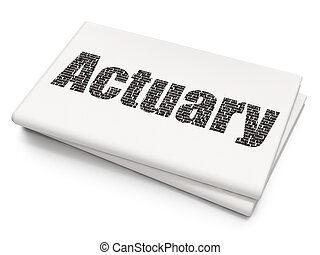 Insurance concept: Actuary on Blank Newspaper background