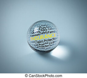 insurance concept in crystal ball