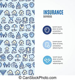 Insurance Concept Infographics Banner. Vector