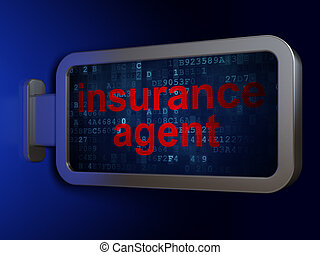 Insurance concept: Insurance Agent on billboard background