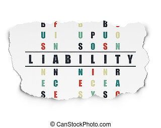 Insurance concept: Liability in Crossword Puzzle