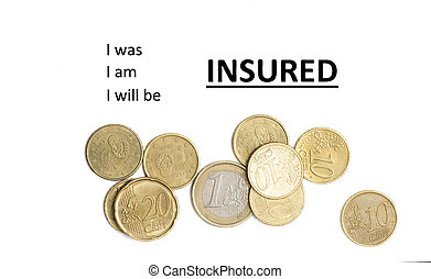 Insurance concept - Onsurance business concept and several...