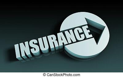 Insurance Concept With an Arrow Going Upwards 3D