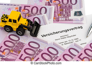 insurance contract for new excavator