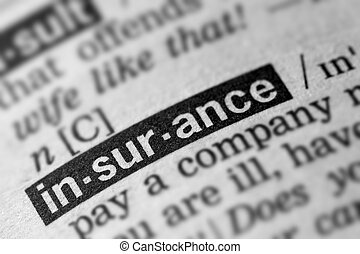 Insurance Definition Word Text