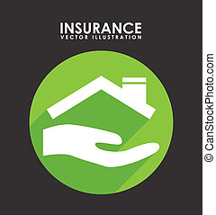 insurance design over black background vector illustration