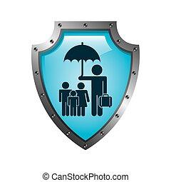 insurance design - insurance graphic design , vector...