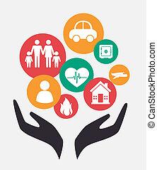 Insurance design over white background, vector illustration