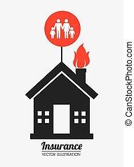 Insurance design, vector illustration. - Insurance design...