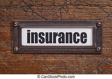 insurance - file cabinet label