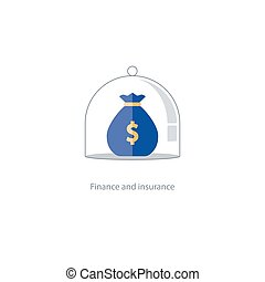 Insurance finance management, budget plan, pension fund, retirement savings