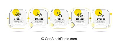 Insurance hand, Reject click and Edit user icons set. Quiz test sign. Vector