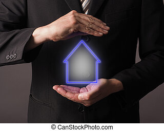 Insurance house concept