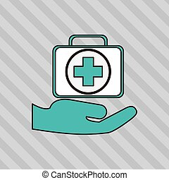 Simple flat design medical insurance card icon vector ...