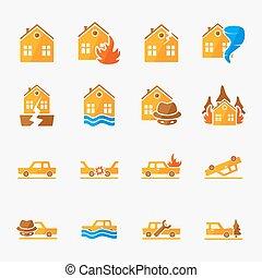 Insurance icons set