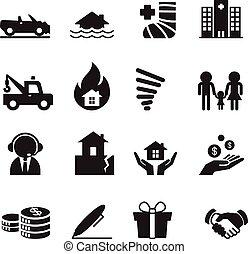 Insurance Icons Vector Illustration Set 2