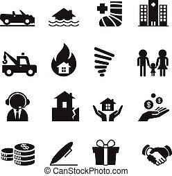 Insurance Icons Vector Illustration Set 2