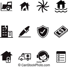 Insurance Icons Vector Illustration Symbol