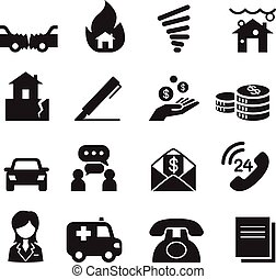 Insurance Icons Vector Illustration Symbol Set3