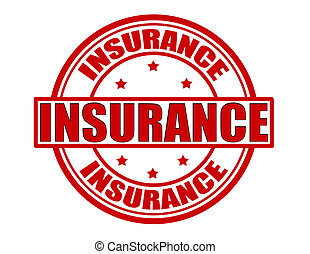 Insurance - Stamp with word insurance inside, vector...