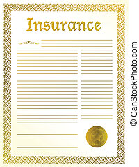 Insurance legal document illustration design