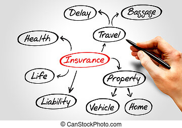 Insurance mind map