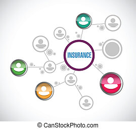 insurance network illustration design