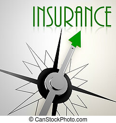 Insurance on green compass