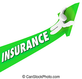 Insurance Person Riding High Costs Expenses Medical Prices -...