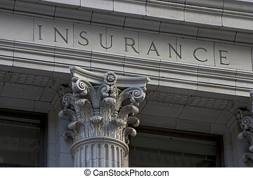 Insurance Pillar - Neoclassical architechture sports a...