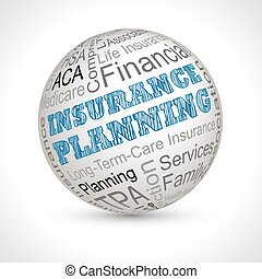 Insurance Planning theme sphere with keywords