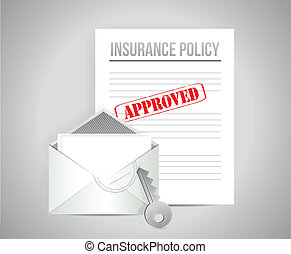 insurance policy approved concept illustration design...
