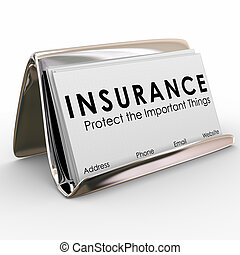 Insurance Policy Coverage Sales Agent Protection Business Cards