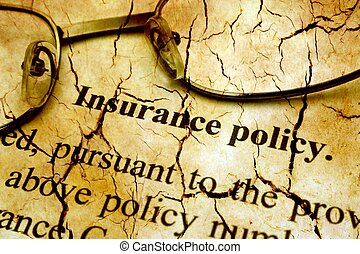 Insurance policy grunge concept