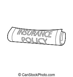 Insurance policy icon, outline style