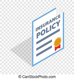 Insurance policy isometric icon