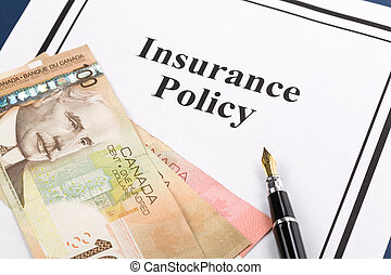 Insurance Policy, Life; Health, car, travel, for background...