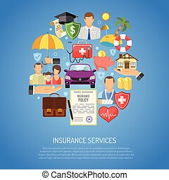 Insurance Services Concept for Poster, Web Site, Advertising...