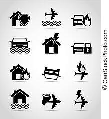 insurance set icons