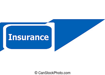 insurance sign web icon button, business concept