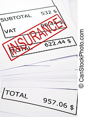 Insurance stamp on financial paper