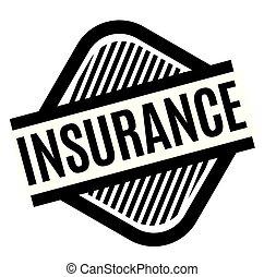 insurance stamp on white